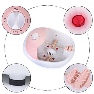 All in one foot spa bath massager w/ heat, HF vibration, O2 bubbles red light MS0810M