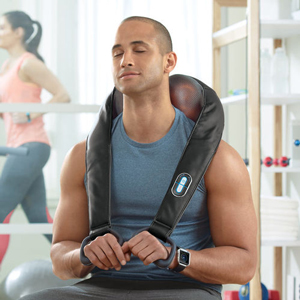 Brookstone Cordless Shiatsu Neck & Back Massager with Heat