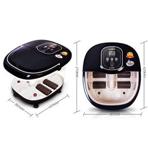 Foot SPA Bath Massager,ETTG Multifunction Heat Infrared Vibrating Air bubble Electric Foot Massager Foot Shiatsu for Foot, Ankle, Leg, Calf,etc.