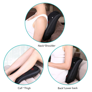 Naipo Shiatsu Back Massager Cushion Lumbar Back Massage with Heat and Deep Kneading for Car, Home, and Office Use