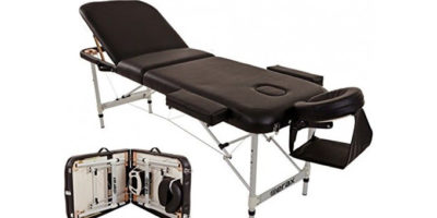 Merax Aluminium 3 Section Portable Folding Massage Table Facial SPA Tattoo Bed