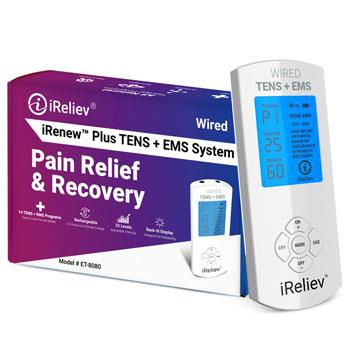 iReliev Wireless TENS + EMS Combination Muscle Stimulator